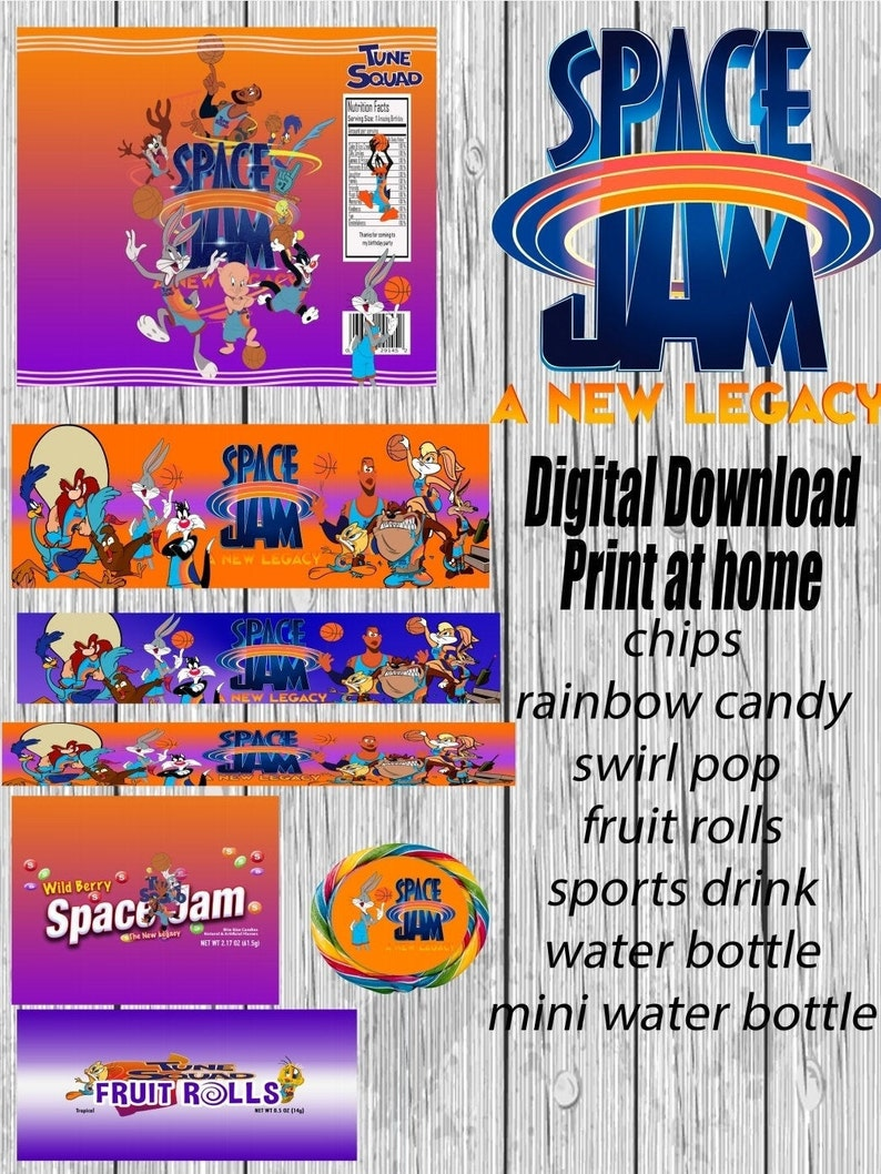 7 piece Space Jam 2 Party Favors  The New Legacy Chip Bags image 0