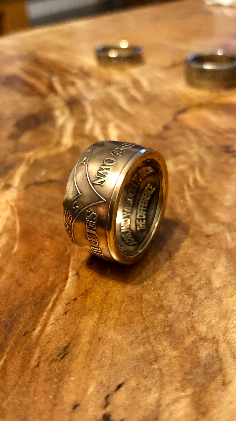 Coin ring hand made From Sobriety token