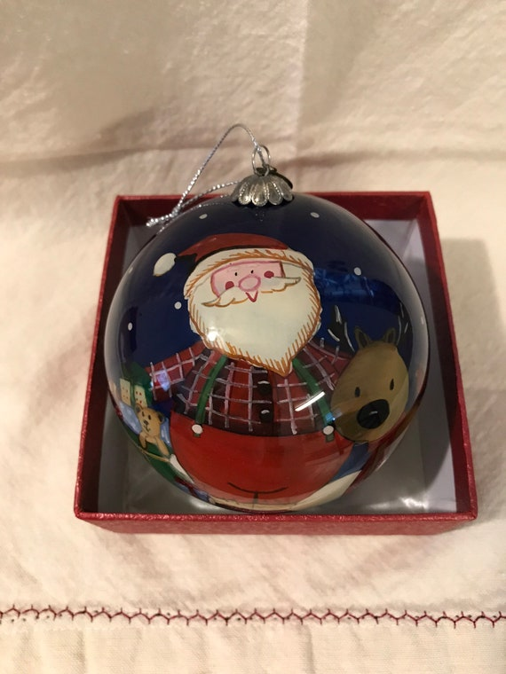 Pier 1 Christmas Ornaments.Pier 1 La Bien Christmas Ornament Hand Painted