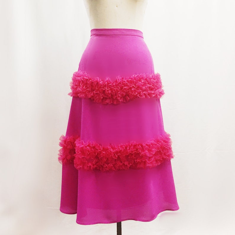 A-line silhouette with tiered ruffle details