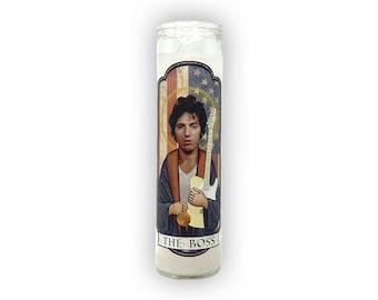 BRUCE SPRINGSTEEN The Boss Saint Prayer Candle Gift