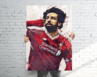 bc45943aa8e Mohamed Salah Liverpool F.C. Poster   Canvas Print - Sports Art - Soccer  Football Art - Kids Decor - Gift for Girl - Gift for Boy - Man Cave