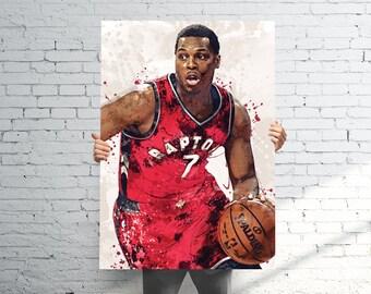 fb60535e1830 Kyle Lowry Toronto Raptors Poster   Canvas Print - Sports Art - Football  Art - Kids Decor - Man Gift - Man Cave