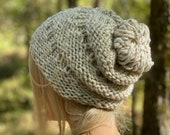 Knit Hat, Slouchy Hat, Handknit Cap, Slouch Hat, Slouchy Beanie, Winter Hat, Slouchy Hat Women, Slouchy Beanie Color Choices, Winter Gift