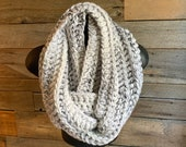 Crochet scarf, Gradient scarf, white and black knit scarf, warm wool shawl, wrap scarf, winter gift for her