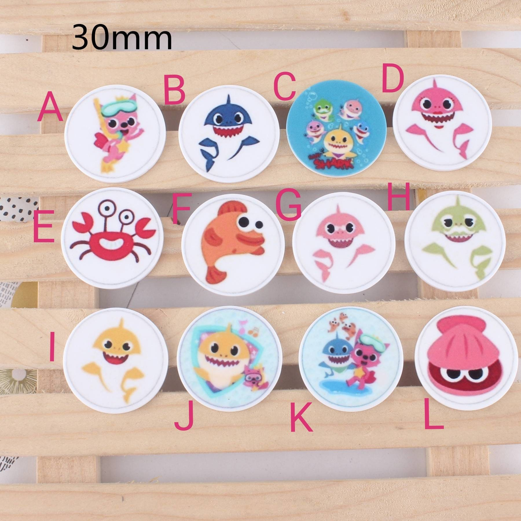 Planar Resin Cabochon Flatback Hair Bow Pin Center Embellishment Cupcake Topper Resin Charms Jewelry Findings