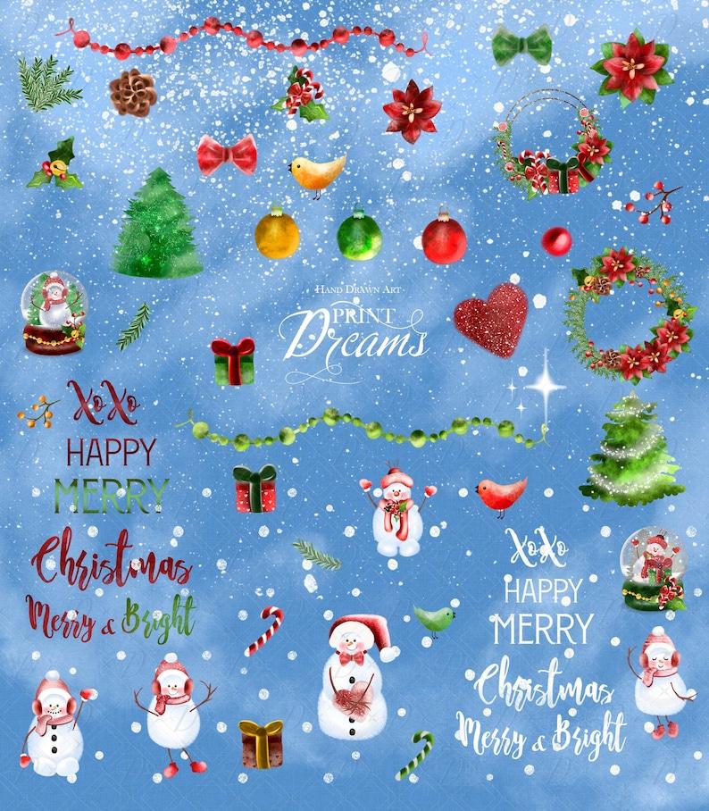 Christmas clipart Snowman clipart Snowman vintage Christmas snowman clipart christmas vintage Snowman Watercolor Christmas Clipart