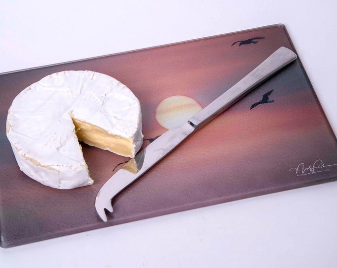 Cheese Board or Cutting Board. Birds into the Sunset