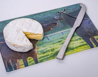 Horses. Cutting/Cheese Board