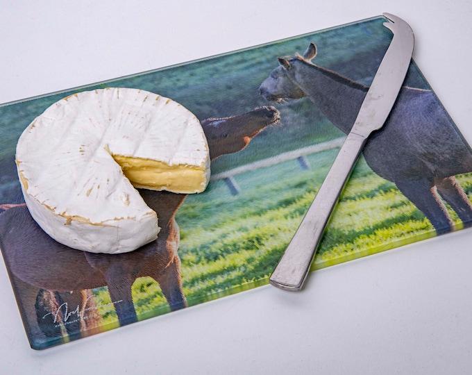 Horses. Cutting/Cheese Board