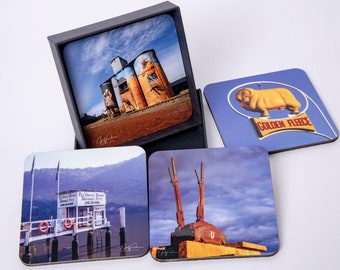 On The Road. Set of 4 Drink Coasters