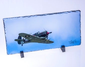 WWII Boomerang Fighter Plane - Slate Picture