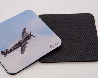 Spitfire and Boomerang, Rubber Coasters set of 4