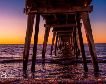 Pier at Sunset Cutting/Cheese Board