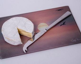 Birds into the Sunset Cutting/Cheese Board