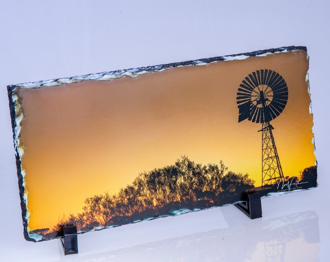 Australian Outback Sunset - Slate Picture