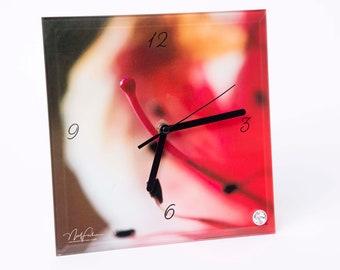 Azalea. Glass Clock