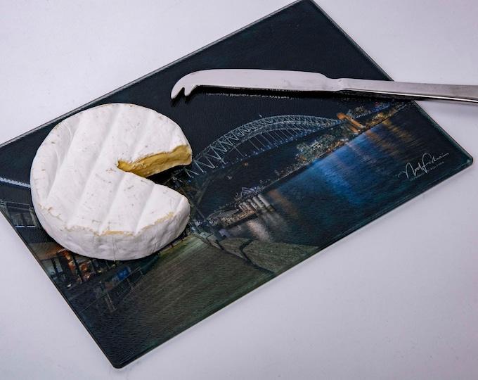 Sydney Harbour Bridge at Night. Cutting/Cheese Board