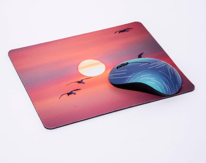 Birds into the Sunset Mouse Pad