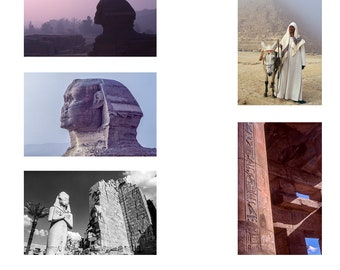 Egyptian Series 1 A6 Note Cards