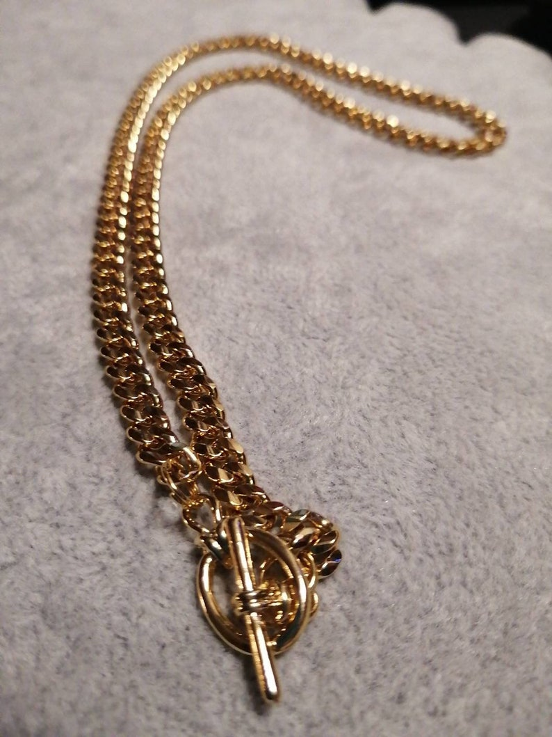 Gold-plated necklace big links