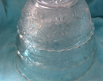Frosted Crystal Lighter Urn Holder Ashtray by Tiara Exclusives Tobacciana
