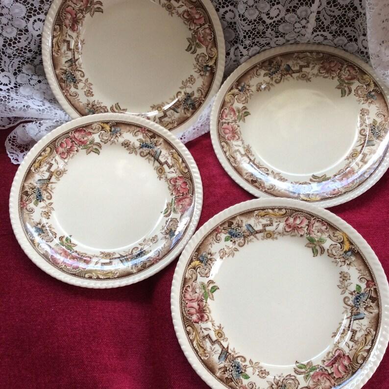 Four Devonshire plates
