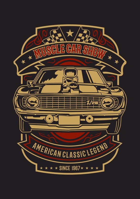 American muscle,Cadillac classic car, Mens Black light weight summer t-shirts