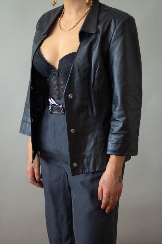 Vintage Black Lace Bustier (34D)    Bustier Top  … - image 2