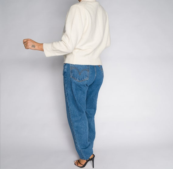 Versace Blue High Waisted Denim Trousers - image 8