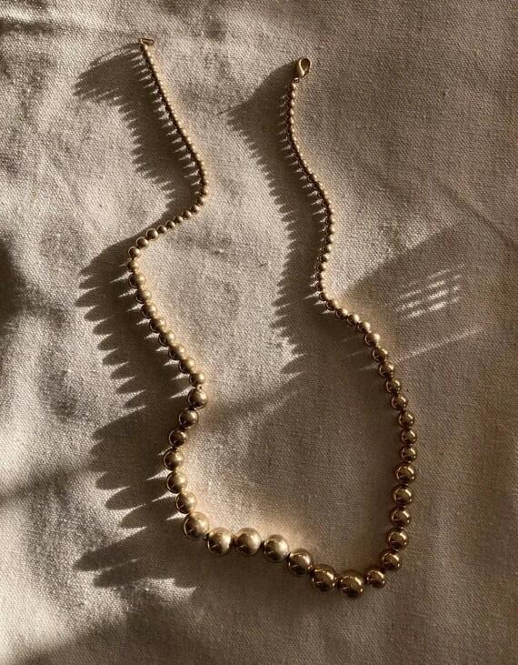 Vintage Graduated Bead Necklace   Vintage Dainty … - image 1