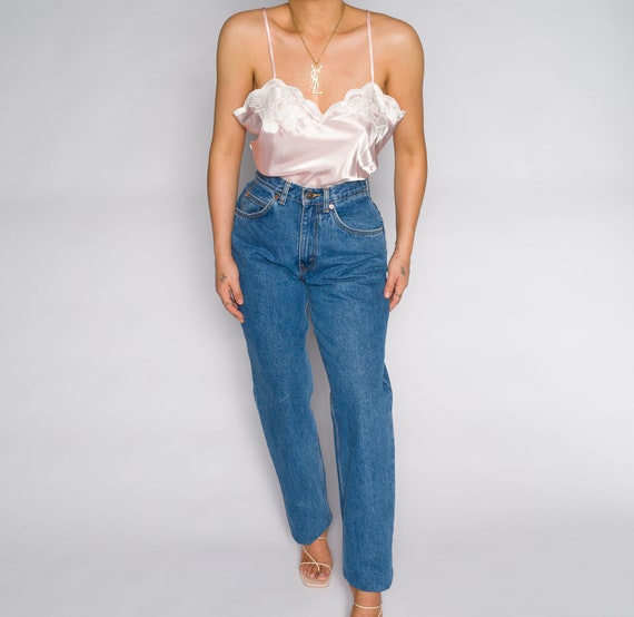 Versace Blue High Waisted Denim Trousers - image 6
