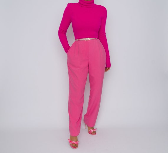 Vintage Cashmere Hot Pink Turtleneck