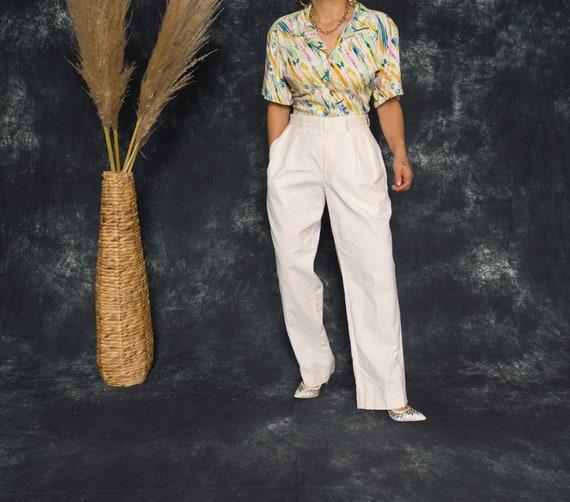 50's Palm Tree Beach Blouse