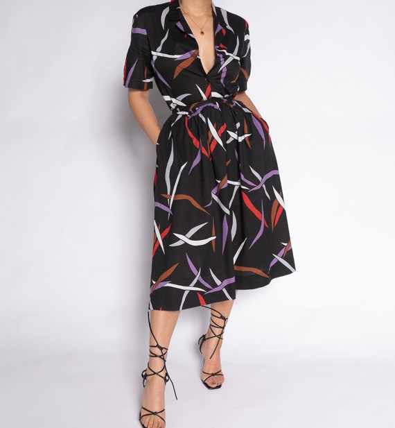 Rare Abstract Blouse Skirt Set