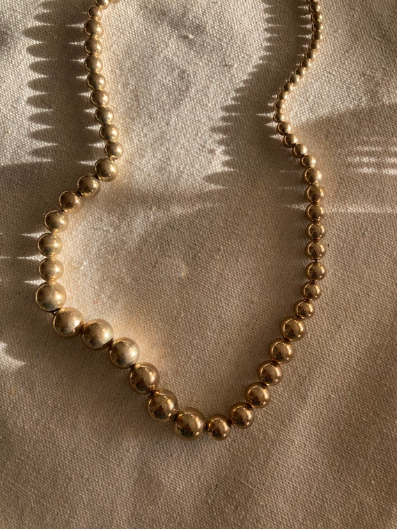 Vintage Graduated Bead Necklace   Vintage Dainty … - image 2