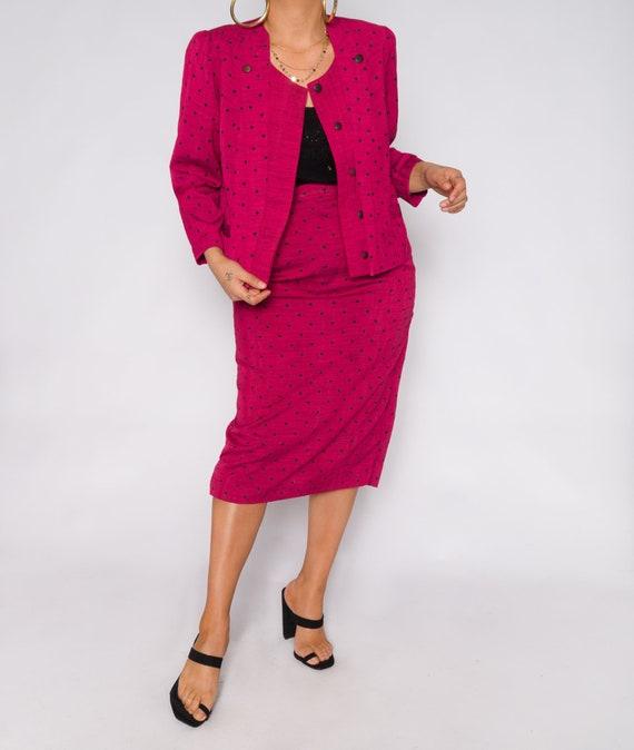 Polka Dot Barbie Pink Skirt Set