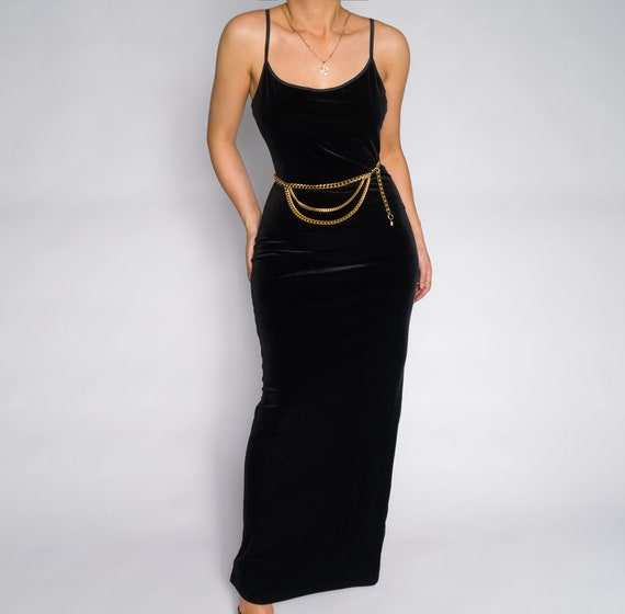 Beaded Vintage Black Slip Dress | Beaaded Slip Sli
