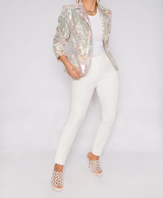 Bagatelle Pastel Italian Floral Tailored Blazer Ja