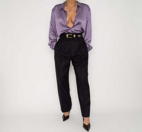 Vintage 70's Lavender Blouse | 1970's Lavender Sil