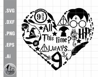 Harry Potter Heart Svg Etsy