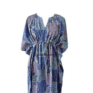 Maxi Dress Long Caftan Cotton Kaftan Black Floral Kaftan For to be Moms Indian Kaftan Sleepwear Beach Cover up Best Gift for Her