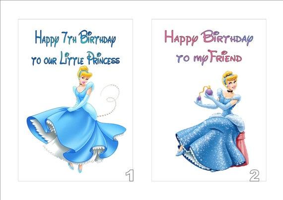 PRINCESS CINDERELLA PERSONALISED BIRTHDAY CARD ANY NAME AGE RELATION