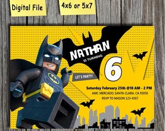 Lego Batman Invitations Etsy
