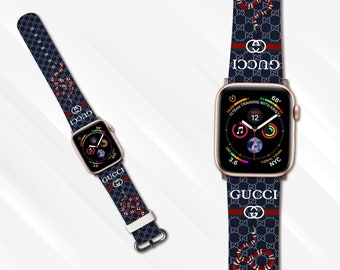 7449e6d2962 inspired by Gucci Apple watch strap 44mm Watch band iWatch Strap 38mm Apple  watch strap 42mm iWatch band 40mm Leather apple watch band