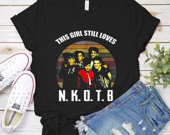 d296ab08c New Kids On The Block Band Vintage Retro NKOTB Logo 80s 30 Years Aniversity  Shirt The Girl Still Love NKOTB T-Shirt Unisex Tee