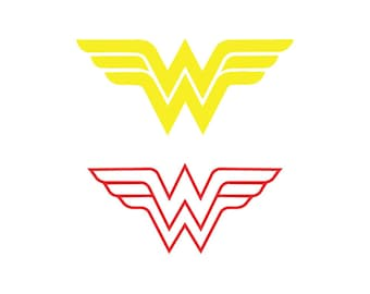 image relating to Wonder Woman Printable Logo titled Marvel girl symbol Etsy