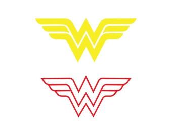 image relating to Wonder Woman Printable Logo titled Marvel girl symbol Etsy