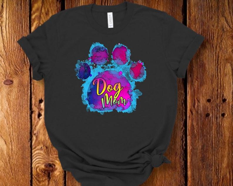 Dog Mom PNG Design Paw print design DOG MOM Sublimation Design Dog T-shirt Printable Sublimation Download Mug Cup Sublimation Design