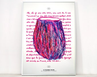 Poster The Yolandji Dolma (eggplant), art silkscreen 50x70 cm, limited edition, kitchen decor